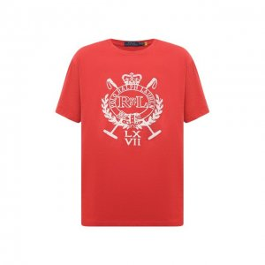 Хлопковая футболка Polo Ralph Lauren. Цвет: розовый