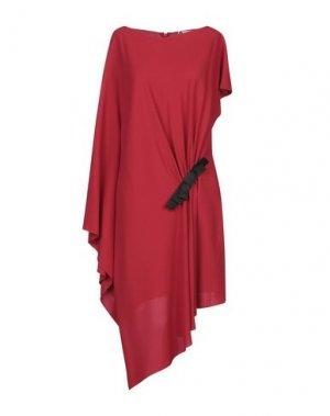 Короткое платье LANVIN. Цвет: красный