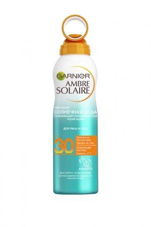 Сухой спрей Солнечная вода АМ Garnier. Цвет: белый