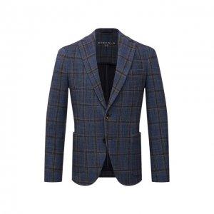 Хлопковый пиджак Circolo 1901. Цвет: синий