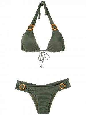 Декорированный купальник бикини Brigitte. Цвет: зеленый