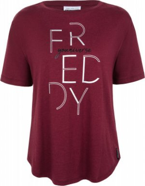 Футболка женская , размер 44-46 Freddy. Цвет: красный