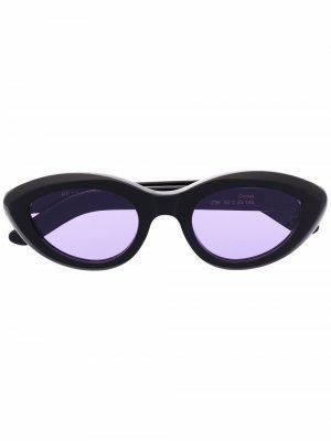 Солнцезащитные очки Cocca в оправе кошачий глаз Retrosuperfuture. Цвет: черный