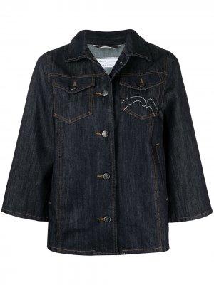 Джинсовая куртка с вышивкой Société Anonyme. Цвет: синий