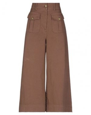 Джинсовые брюки DIXIE. Цвет: коричневый