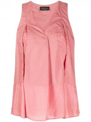 Расклешенная блузка Roberto Collina. Цвет: розовый
