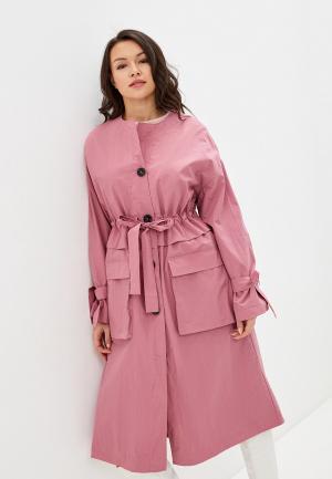 Плащ Selected Femme. Цвет: розовый