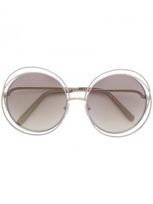 Oversized round frame sunglasses Chloé Eyewear. Цвет: металлический