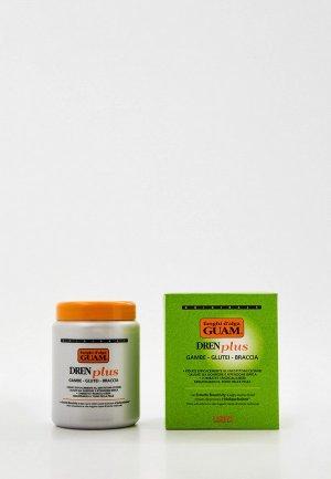 Маска для тела Guam FANGHI D'ALGA, антицеллюлитная с дренажным эффектом, DREN PLUS, 1000 г. Цвет: прозрачный