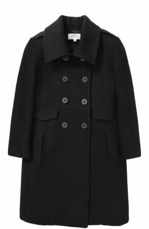 Двубортное пальто Aletta. Цвет: черный