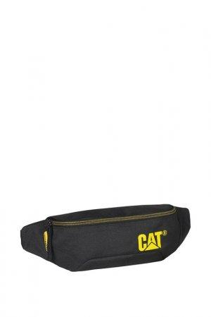 Сумка поясная Waist Bag Caterpillar. Цвет: черный