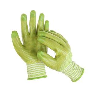 Перчатки текстильные, с pvc пропиткой, зелёные Greengo