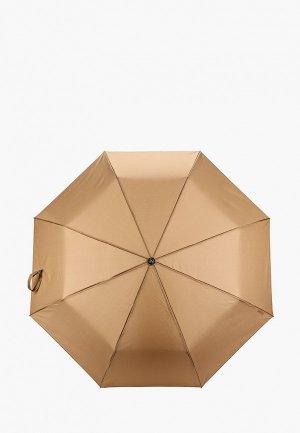 Зонт складной Zemsa. Цвет: коричневый