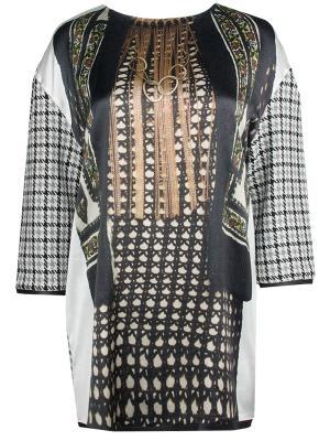 Платье-туника с принтом Venera Arapu. Цвет: разноцветный
