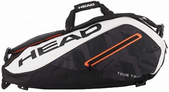 Сумка для 9 ракеток Tour Team Head. Цвет: черный