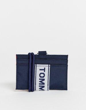 Темно-синяя кредитница с фирменной лентой -Темно-синий Tommy Jeans