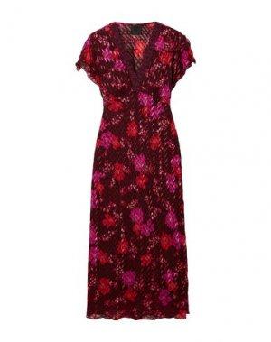 Платье длиной 3/4 ANNA SUI. Цвет: красно-коричневый
