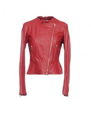 Куртка BLACK LABEL. Цвет: красно-коричневый