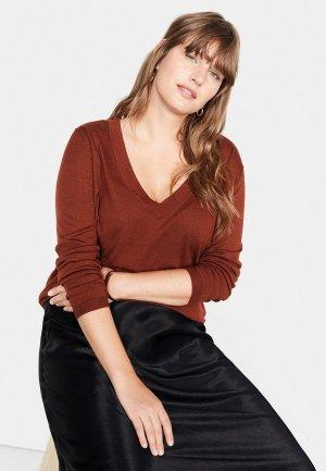 Пуловер Violeta by Mango - AGORA. Цвет: коричневый