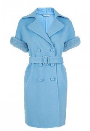 Пальто ERMANNO SCERVINO. Цвет: голубой