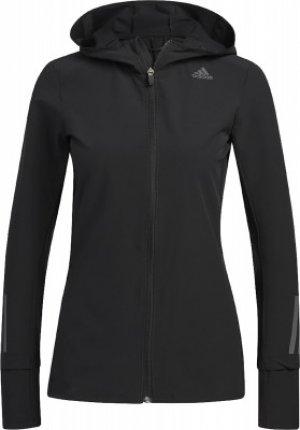 Ветровка женская Response, размер 42-44 Adidas. Цвет: черный