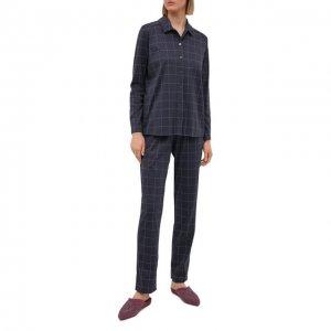 Хлопковая пижама Louis Feraud. Цвет: серый