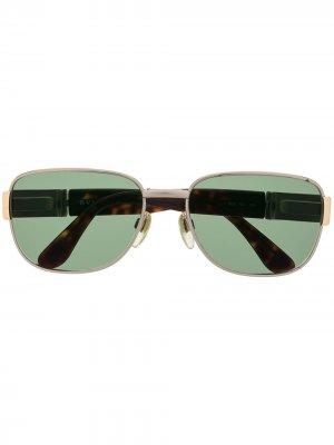Солнцезащитные очки в квадратной оправе Bulgari Pre-Owned. Цвет: зеленый