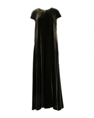 Длинное платье ASPESI. Цвет: зеленый-милитари