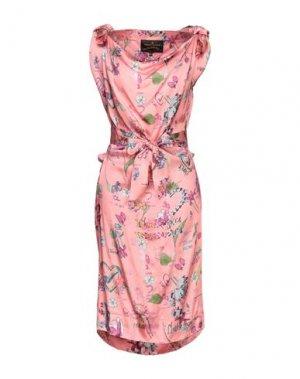 Платье миди VIVIENNE WESTWOOD ANGLOMANIA. Цвет: розовый