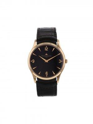 Наручные часы Master Ultra Thin pre-owned 38 мм 2010-го года Jaeger-LeCoultre. Цвет: коричневый