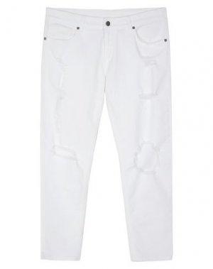 Джинсовые брюки UP ★ JEANS. Цвет: белый