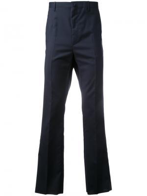 Укороченные классические брюки Lanvin. Цвет: синий
