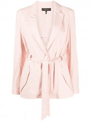 Tie-waisted tailored blazer Rag & Bone. Цвет: розовый