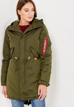Парка Alpha Industries Fishtail CW TT. Цвет: хаки