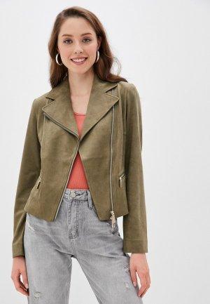 Куртка кожаная Betty Barclay. Цвет: хаки