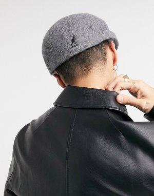 Серая шерстяная кепка -Серый Kangol
