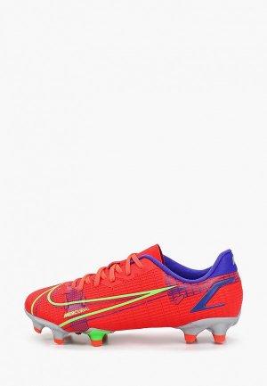 Бутсы Nike JR VAPOR 14 ACADEMY FG/MG. Цвет: красный