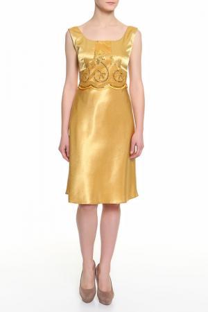 Платье BMBL VIRSAVIYA. Цвет: золотой