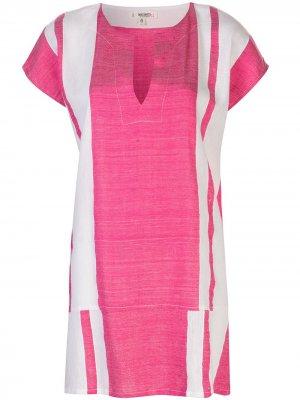 Платье-туника Zoya в полоску lemlem. Цвет: розовый