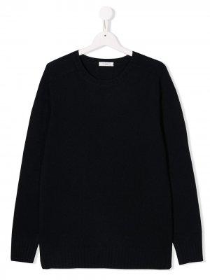 Пуловер с круглым вырезом Paolo Pecora Kids. Цвет: синий