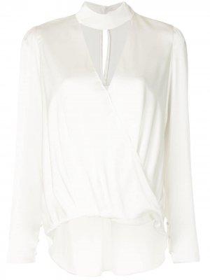 Блузка Raquel с воротником-стойкой и вырезом A.L.C.. Цвет: белый