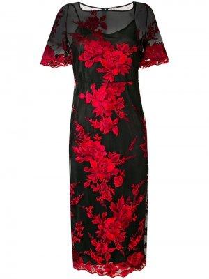 Прозрачное платье с цветочной вышивкой Antonio Marras