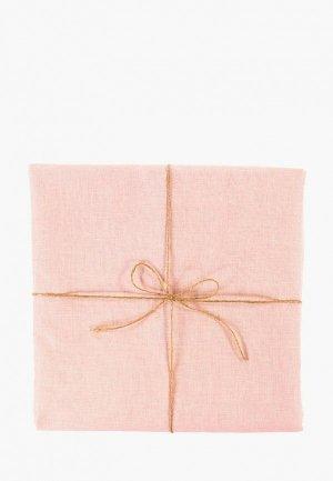 Скатерть Tkano 143х143. Цвет: розовый