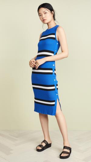 Stripe Rib Midi Dress Autumn Cashmere