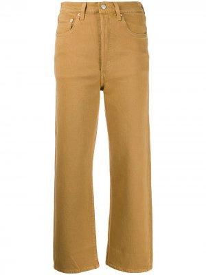 Levis укороченные джинсы Ribcage широкого кроя Levi's. Цвет: нейтральные цвета