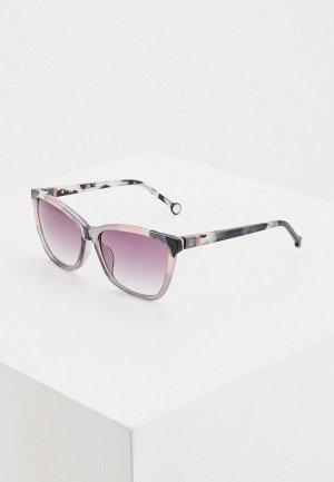 Очки солнцезащитные Carolina Herrera 844V-9MB. Цвет: серый