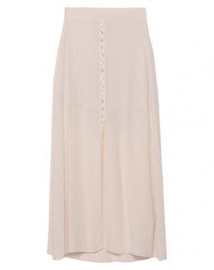 Длинная юбка SOALLURE. Цвет: бежевый