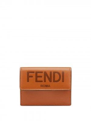 Маленький бумажник Fendi. Цвет: коричневый