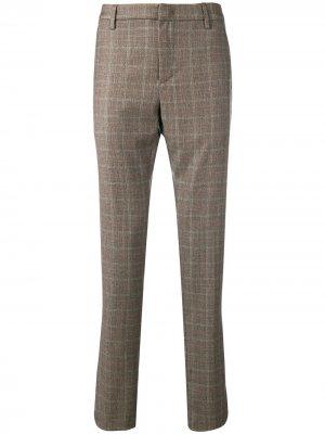 Классические брюки в клетку Dondup. Цвет: коричневый