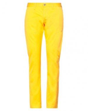 Повседневные брюки EDWIN. Цвет: охра